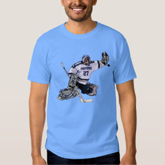 Ice Hockey Goalkeeper With Your Name Drawing T-Shirt