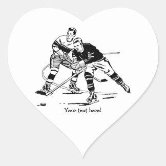 Ice hockey heart sticker