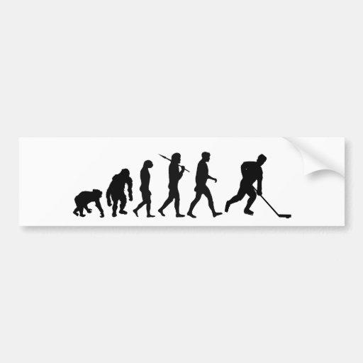 Ice Hockey Hockey Players Evolution Bumper Sticker Car Bumper Sticker