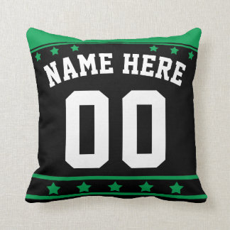 Ice Hockey Jersey Name & Number Template Pillow