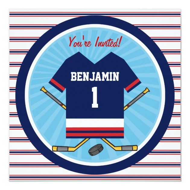 128 Ideas About Babys 1st Birthday Party Invitations Page8 – Hockey Birthday Party Invitations