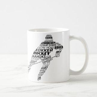 Ice Hockey Languages Text Art Coffee Mug