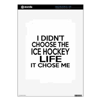 ICE HOCKEY LIFE DESIGNS DECALS FOR iPad 2