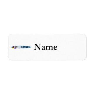 Ice Hockey Logo Return Address Label