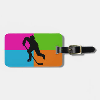 ice hockey luggage tag