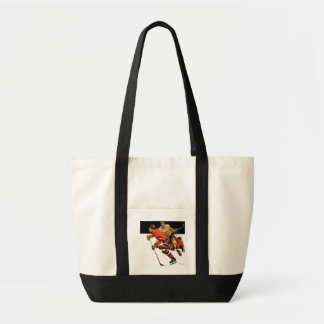 Ice Hockey Match Tote Bag