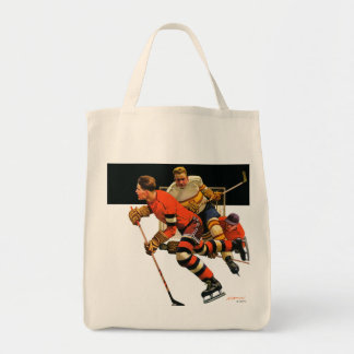 Ice Hockey Match Tote Bags