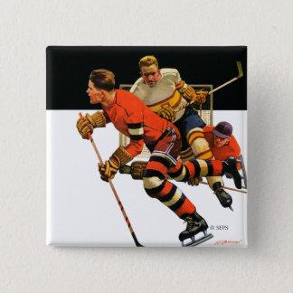 Ice Hockey Match Button