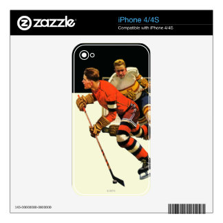 Ice Hockey Match Decals For iPhone 4S