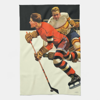 Ice Hockey Match Kitchen Towel