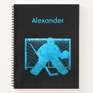 Ice hockey notebook goalie turquoise