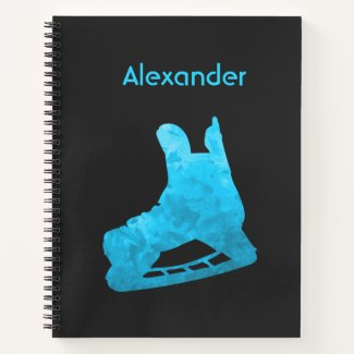 Ice Hockey notebook skate turquoise