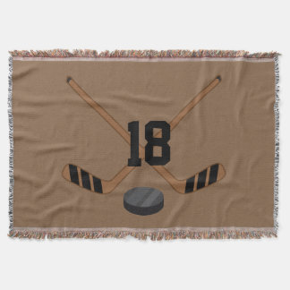 Ice Hockey Personalized Sports Blanket Gift