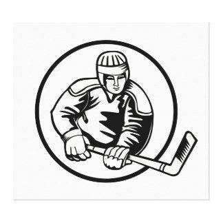 Ice Hockey Pictogram Canvas Print