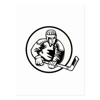 Ice Hockey Pictogram Postcard