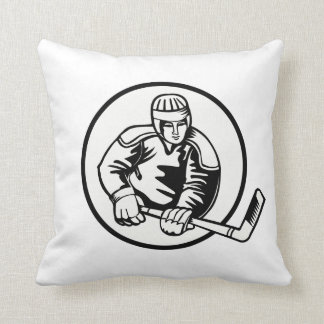 Ice Hockey Pictogram Throw Pillow