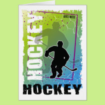 Ice Hockey Player Abstract (male) Card