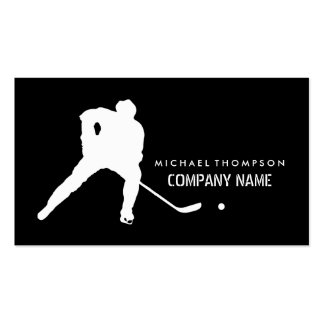 Ice Hockey Player And Any Color Background Business Card