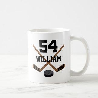 Ice Hockey Player Custom Number 54 Gift Coffee Mug