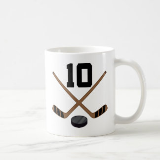 Ice Hockey Player Jersey Number 10 Gift Classic White Coffee Mug