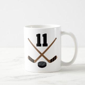 Ice Hockey Player Jersey Number 11 Gift Coffee Mug