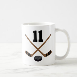 Ice Hockey Player Jersey Number 11 Gift Classic White Coffee Mug