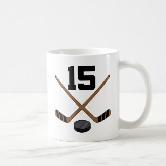 Ice Hockey Player Jersey Number 15 Gift Classic White Coffee Mug