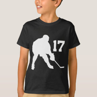 Ice Hockey Player Jersey Number 17 T-Shirt
