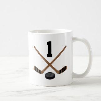 Ice Hockey Player Jersey Number 1 Gift Coffee Mug