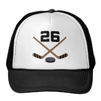 Ice Hockey Player Jersey Number 26 Gift Trucker Hat