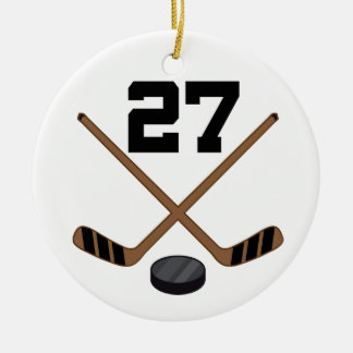 Ice Hockey Player Jersey Number 27 Ornament