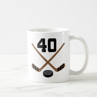 Ice Hockey Player Jersey Number 40 Gift Coffee Mug