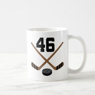 Ice Hockey Player Jersey Number 46 Gift Coffee Mug