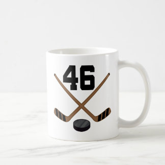 Ice Hockey Player Jersey Number 46 Gift Classic White Coffee Mug