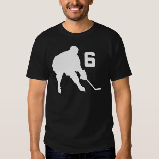 Ice Hockey Player Jersey Number 6 T Shirts