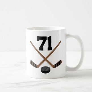 Ice Hockey Player Jersey Number 71 Gift Coffee Mug