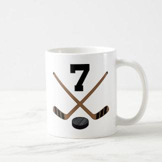 Ice Hockey Player Jersey Number 7 Gift Coffee Mug