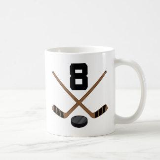 Ice Hockey Player Jersey Number 8 Gift Coffee Mug