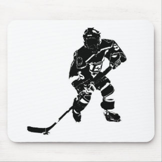 Ice Hockey Player Mouse Pad