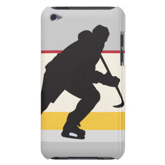 ice hockey player on the move iPod Case-Mate case
