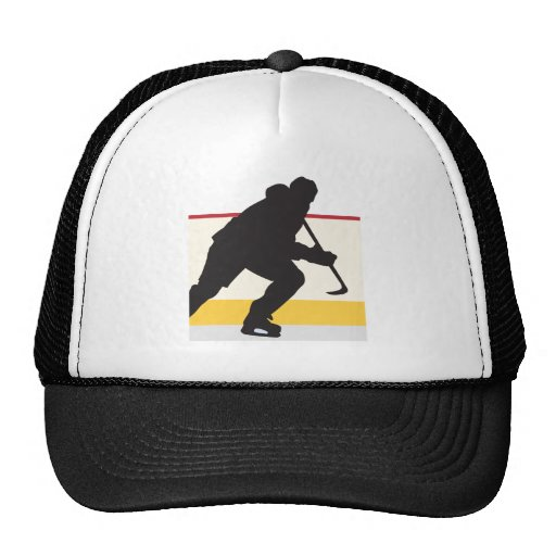 ice hockey player on the move trucker hat