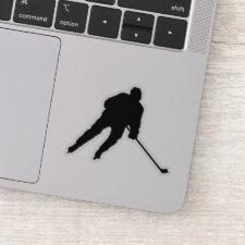 Ice hockey player - sticker (black)