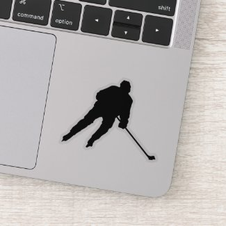 Ice hockey player - sticker (black)