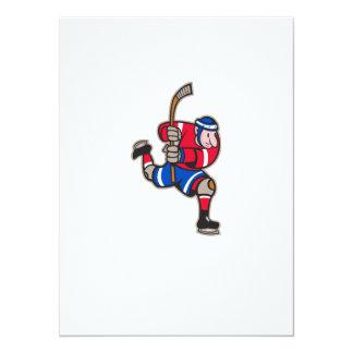 Ice Hockey Player Striking Stick Card