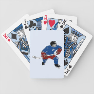 Ice Hockey Players Walk On Water Bicycle Playing Cards at Zazzle