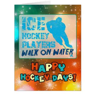 Ice Hockey Players Walk on Water Christmas Card