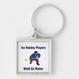 Ice Hockey Players Walk On Water Keychain