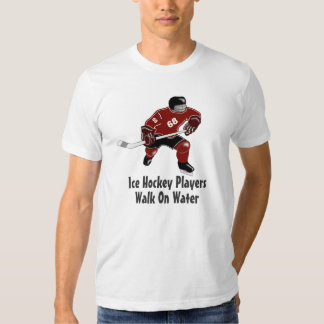 Ice Hockey Players Walk On Water Sports Tee Red