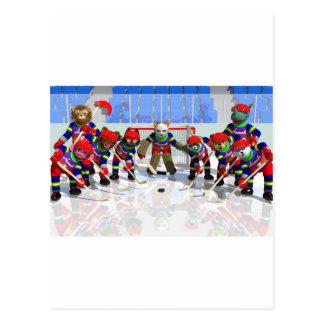 Ice hockey postcard