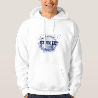 Ice Hockey Puck Customize White Hoodie